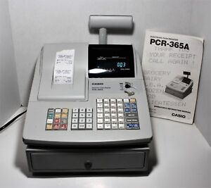 Casio Pcr 365a Programmable Electronic Cash Register W 2 Keys And Users Manual