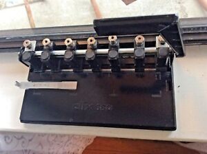 Vintage Heavy Duty Clix Adjustable 7 Three Hole Punch Adjustable Puncher Office