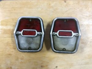 Pair 1962 1963 1964 Chevrolet Chevy Ii Nova Car Taillights Gm
