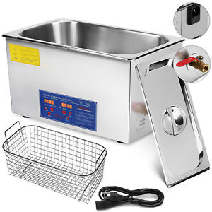 1080w 22 L Ultrasonic Cleaners Cleaning Equipment Heated W Timer Jewelry