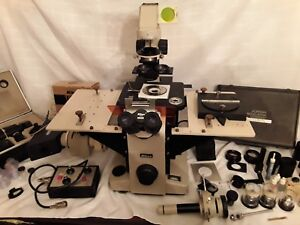 Nikon Diaphot Flourescence Inverted Microscope With Hoffman Modulation Contrast