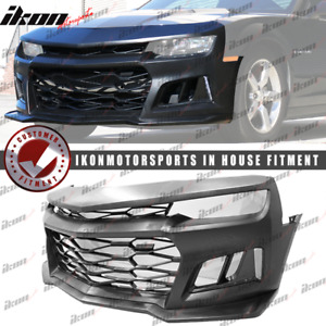 Fits 14 15 Chevy Camaro Zl1 Style 5th To 6th Gen Conversion Front Bumper Cover
