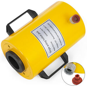 60 Tons 4 Stroke Single Acting Hollow Ram Hydraulic Cylinder Jack Active Demand