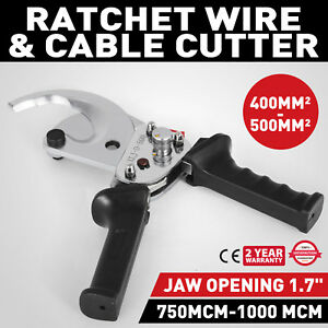 Ratcheting 1000 Mcm Wire Cable Cutter Electrical Tool Compact Light Aluminum