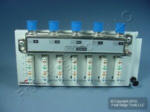 Cooper Compact 4 line To 9 location Telephone And 1 4 Video Splitter Module 5587