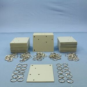 New Leviton Custom Gray Tile Tag a bin Organizing Kit With Clip rings 14850 til
