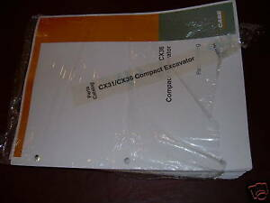 Case Cx31 And 36 Excavator Parts Catalog Book