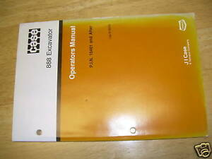 Case 888 Excavator Operator s Maintenance Manual
