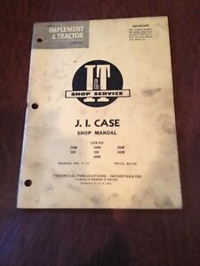 Ji Case I t Tractor Shop Service Repair Manual Book 200b 300b 400b 600 500b 350