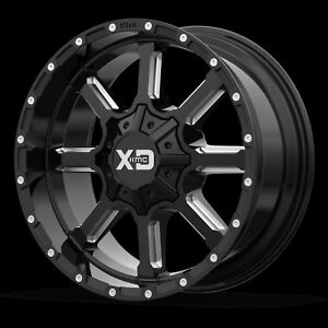 20 Inch Black Wheels Rims Jeep Wrangler Jk Jku Xd Xd838 Mammoth Set Of Five 5