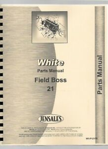Parts Manual Catalog White 21 Field Boss Tractor