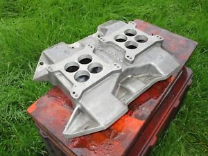 Weiand Wc 2q Dual quad 2x4 Mopar 413 440 Intake Manifold Say Why and Dodge