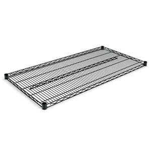 Alera Industrial Wire Shelving Extra Wire Shelves Black 2 ctn Sw584824bl New