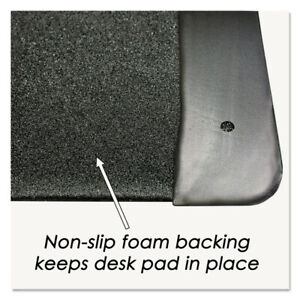 Artistic Executive Desk Pad With Leather like Side Panels 36x20 Black 413861 New