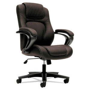 Basyx Vl402 Series Executive High back Chair Brown Vinyl Vl402en45 New