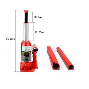 2 Ton Hydraulic Bottle Jack Heavy Duty Automotive Truck Repair Lift Stands