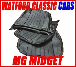 Mg Midget Sprite Of Seat Covers 1970 1981 Leather Look All Black