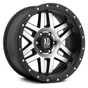 20 Inch Wheels Rims Black Silver Lifted Jeep Wrangler Jk Xd Xd128 Set Of Five 5