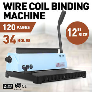 Ups Manual 34 hole Metal Binding Machine Wire Coil Punching Binder Square Hole