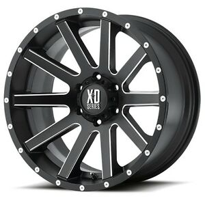 20 Inch Satin Black Wheels Rims Lifted Jeep Wrangler Jk Xd Series 20x10 Set Of 5
