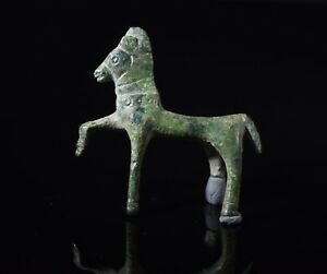 Ancient Celtic Bronze Horse Amulet Statuette T135