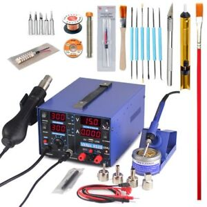 3d Soldering Station 2a 15v Usb Power Supply 3in1 Hot Air Gun Solder Iron New