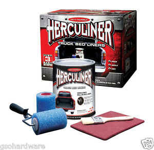 Herculiner Truck Bed Liner Kit For Pick Up Truck Beds Roll Brush On New