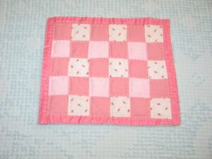 Charming Vintage Patchwork Doll Quilt Hand Made 8 1 4 X 7