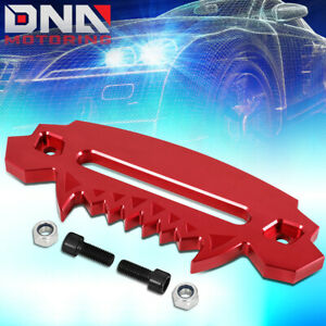 10 Aluminum Devil Skull Hawse Fairlead For Synthetic Winch Rope Guide 4x4 Red