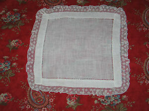 Antique Vtg French Valenciennes Lace Hanky Wedding Handkerchief