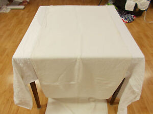Vtg Antique French Fabric White Hemp Linen Grain Bag Sack Sheet Blanket 78x46