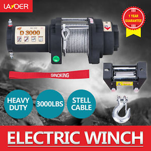 Sinoking 12v 3000lb Electric Winch Steel Cable Advanced Winch For Atv
