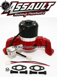 Big Block Chevy 454 Electric High Volume Water Pump Powdercoated Red