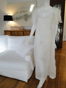 Circa 1890 1900 Lovely Ladies Nightgown W Embroidery Valencienne Lace
