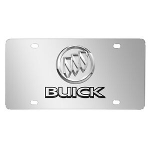 Buick 3d Dual Logo Mirror Chrome Stainless Steel License Plate