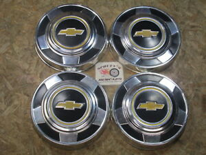 1976 95 Chevy 1 2 Ton Pickup Truck Van Dog Dish Hubcaps Set Of 4