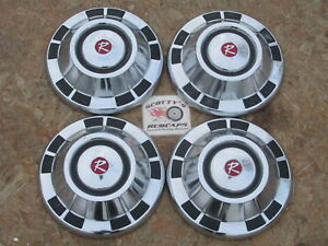 1967 Rambler American Rebel Rogue poverty Dog Dish Hubcaps Set Of 4