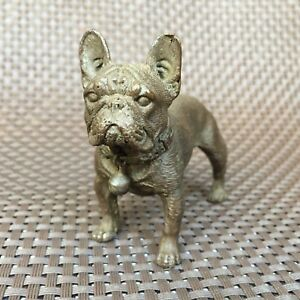 Rare Old Chinese Rare Collectible Antique Copper Handwork Fierce Bulldog Statue