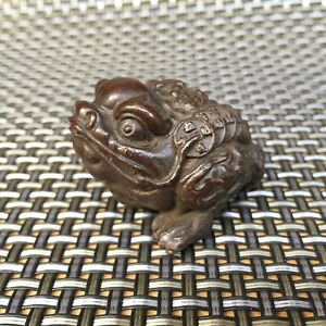 Chinese Collectible Antique Old Copper Handwork Spittor Rare Wealthy Statue