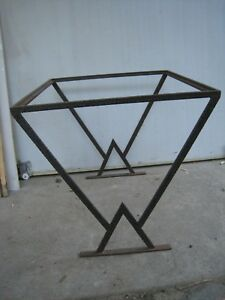 Vintage French Art Deco Hammered Wrought Iron Coffee Table Pick Up Only