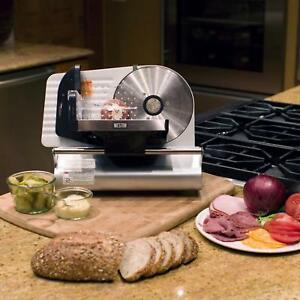 Meat Slicing Machine Deli Slicer Electric Food Bread Kitchen Equipment Tax Free