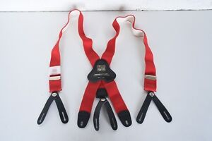 Firefighter Suspenders Red Padded parachute Style For Globe Pants Bunker Straps
