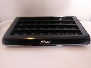 Titleist Golf Ball Display Counter Top Point Of Sale Stand Black Chrome