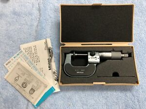 Clean Mitutoyo 223 125 Disk Outside Micrometer 0 To 1 Range