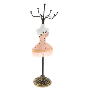 Resin Jewelry Display Mannequin Stand Rack Bracelet Earrings Holder Pink
