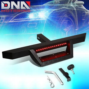 Universal Trailer Tow Hitch Step Bar pin clip W led Brake Light For 2 receiver