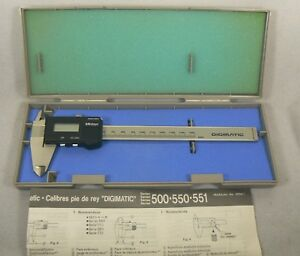 Mitutoyo 6 500 311 0 01 150 Mm Digimatic Caliper Made In Japan With Case