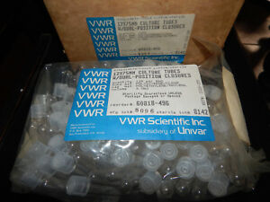 Vwr Scientific 60818 496 12x75mm Culture Tubes 6ml Two Position Closures caps
