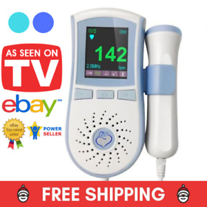 Angelsounds Fetal Doppler 2 5mhz Probe Baby Heart Monitor Backlight Lcd Jpd100b