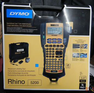 Dymo Industrial Rhino 5200 Label Maker With Case Free Shipping